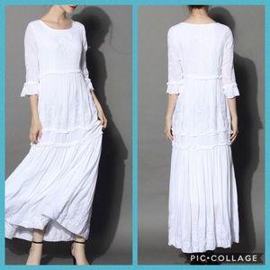 "🆕 CHICWISH White Maxi Dress ""Grace Vines"" *beach*"